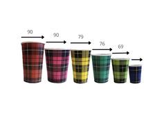 Одношарові стакани з принтом CS